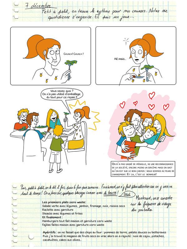 Page 28 de la BD zéro déchet 3, 2, 1... 0 déchet