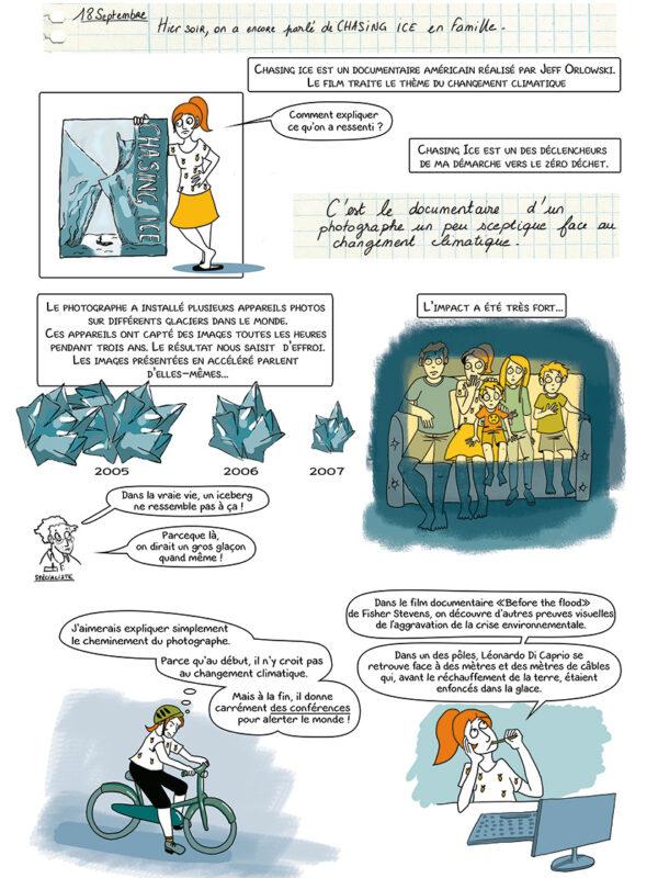 Page 4 de la BD zéro déchet 3, 2, 1... 0 déchet